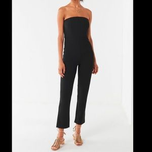 Strapless cropped jumper